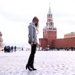 Woman next in Red Square — Stock Photo #1318198