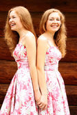 Twins of sister — Stock Photo