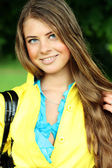 Young woman wet hair blonde — Stock Photo