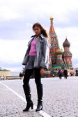 Woman next in Red Square — Stock Photo