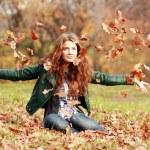 Autumn Leaf fall — Stock Photo