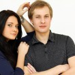Couple embraced, men and woman - Stockfoto
