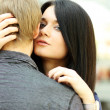 Couple embraced, men and woman — Stock Photo
