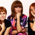 Rad hairs girlfriends — Stock Photo #1326216