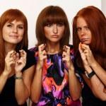 Rad hairs girlfriends — Stock Photo #1326254