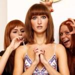 Rad hairs girlfriends — Stock Photo
