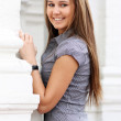 Portrait of a happy young woman — Stock Photo #1326554