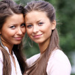 Stock Photo: Twins girls