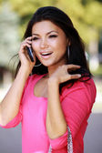 Asian woman calling by phone — Stock Photo