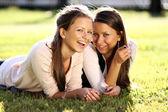Bliźnięta siostry — Zdjęcie stockowe