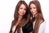 双胞胎女孩 — 图库照片