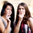 Smoking women — Stock Photo