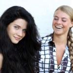 Blonde against the brunette — Stock Photo #2487930