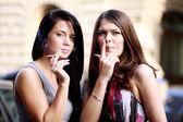 Smoking women — Stock Photo