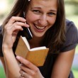 Young lady talking on mobile phone — Stock Photo #2495668
