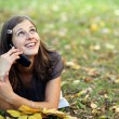 Calling by phone — Stock Photo