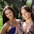Stock Photo: Two young womans