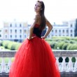 Lady in red dress — Stock Photo #2499085