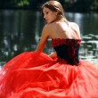 Lady in red dress — Stock Photo #2499277