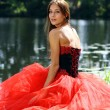 Lady in red dress — Stock Photo #2499284