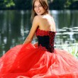 Lady in red dress — Stock Photo #2499311