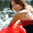Lady in red dress — Stock Photo #2499352