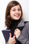 Young smiling business woman — Stock Photo
