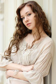 Closeup portrait of an attractive woman — Stock Photo