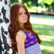 Beauty red-haired girl — Stock Photo #2510449