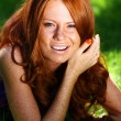 Beauty red-haired girl — Stock Photo