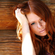Stock Photo: Red-haired girl