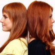 Stock Photo: Red-haired couple