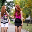 Portrait of girls with beautiful red hair — Стоковая фотография