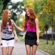 Portrait of girls with beautiful red hair — Foto de Stock