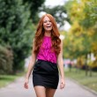 Portrait of the beautiful red-haired girl — Stock Photo