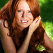 Portrait of the beautiful red-haired girl — Stock Photo #2512682