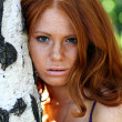 Portrait of the beautiful red-haired girl — Stock Photo #2512698