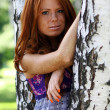 Portrait of the beautiful red-haired girl — Stock Photo #2512709