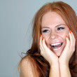 Beautiful redhair woman — Stock Photo