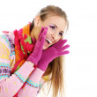 Winter happy young woman - Stockfoto