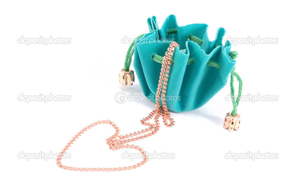 The green jeweller box with green cordages  Stock Photo #1173318