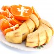 Royalty-Free Stock Photo: Bananas and mandarines