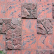 Royalty-Free Stock Photo: A wall is built from a red marble