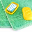Royalty-Free Stock Photo: Towel and soap