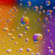 Royalty-Free Stock Photo: Coloured drops of water