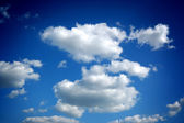 White clouds are in blue sky — Stock Photo