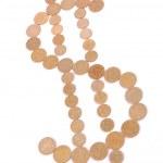 símbolo de dólar oro — Foto de Stock