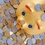 Gold money-box — Stock Photo