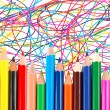 Many crayons — Foto Stock