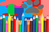 Many crayons — Zdjęcie stockowe